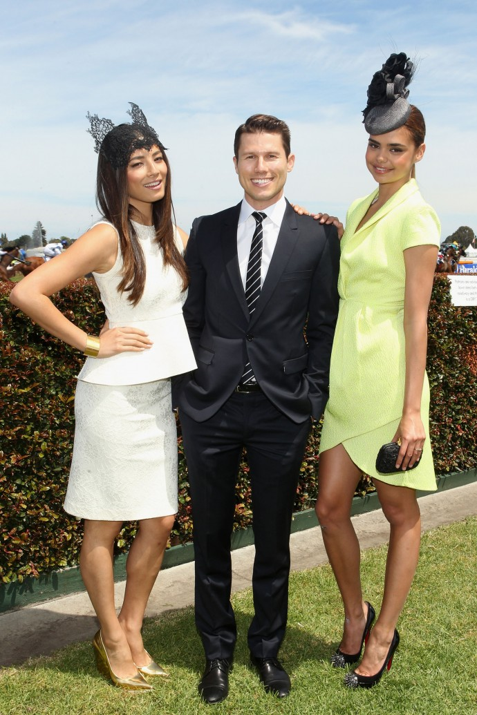 Jess Gomes, Jason Dundas and Samantha Harris