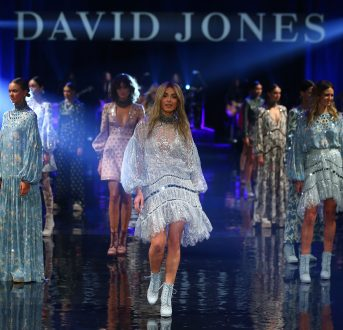 SYDNEY, AUSTRALIA - AUGUST 03:  Jessica Gomes showcases designs by Zimmerman on the runway at the David Jones Spring/Summer 2016 Fashion Launch at Fox Studios on August 3, 2016 in Sydney, Australia.  (Photo by Mark Nolan/Getty Images for David Jones) *** Local Caption *** Jessica Gomes