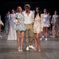 SYDNEY, AUSTRALIA - FEBRUARY 07:  Victoria Lee, Jordan Barrett and Jessica Gomes walk the runway after wearing designs by Zimmerman at the David Jones Autumn Winter 2018 Collections Launch at Australian Technology Park on February 7, 2018 in Sydney, Australia.  (Photo by Mark Nolan/Getty Images for David Jones) *** Local Caption *** Victoria Lee; Jordan Barrett; Jessica Gomes