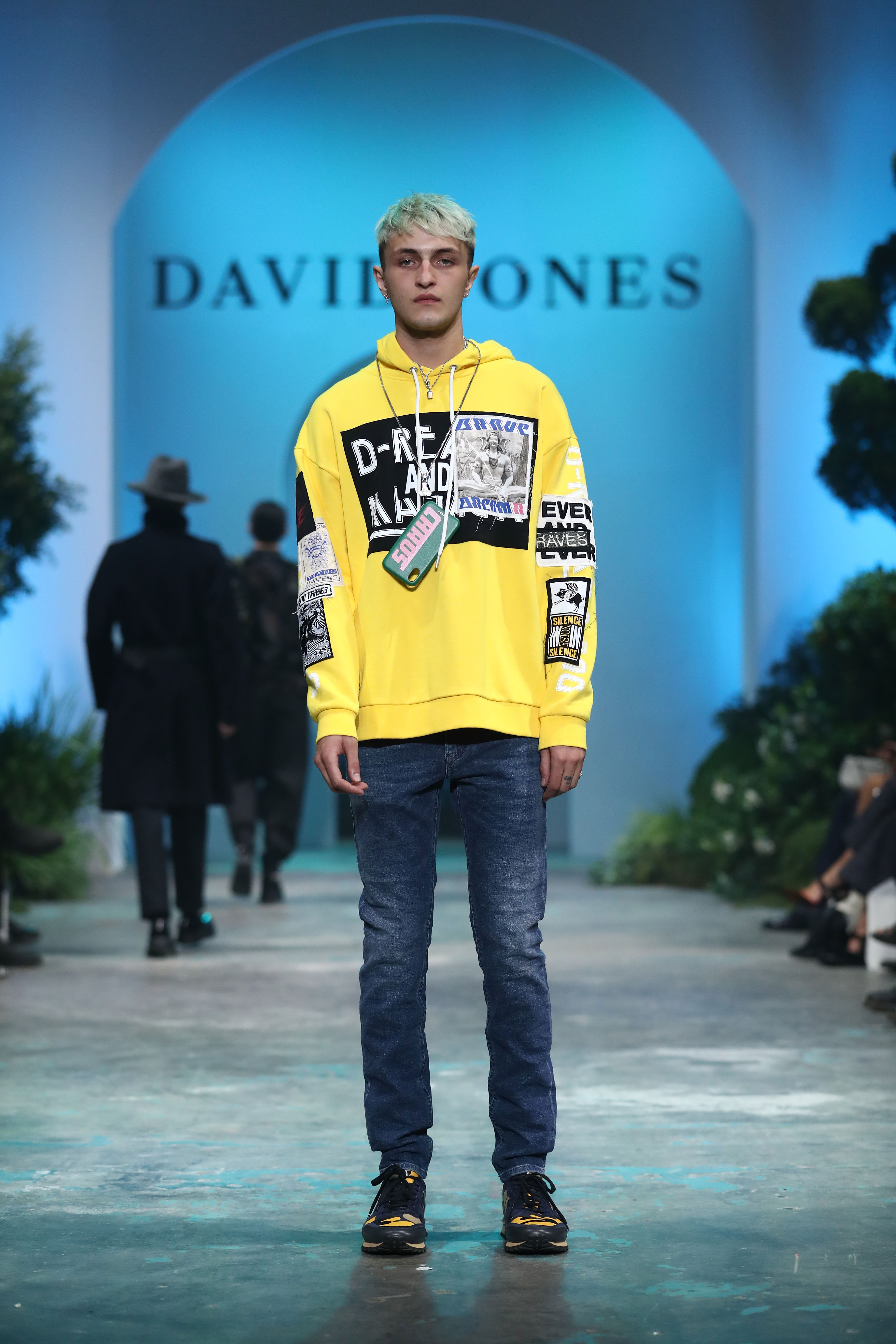 SYDNEY, AUSTRALIA - AUGUST 08:  Anwar Hadid showcases designs by Diesel during the David Jones Spring Summer 18 Collections Launch at Fox Studios on August 8, 2018 in Sydney, Australia.  (Photo by Mark Metcalfe/Getty Images for David Jones) *** Local Caption *** Anwar Hadid
