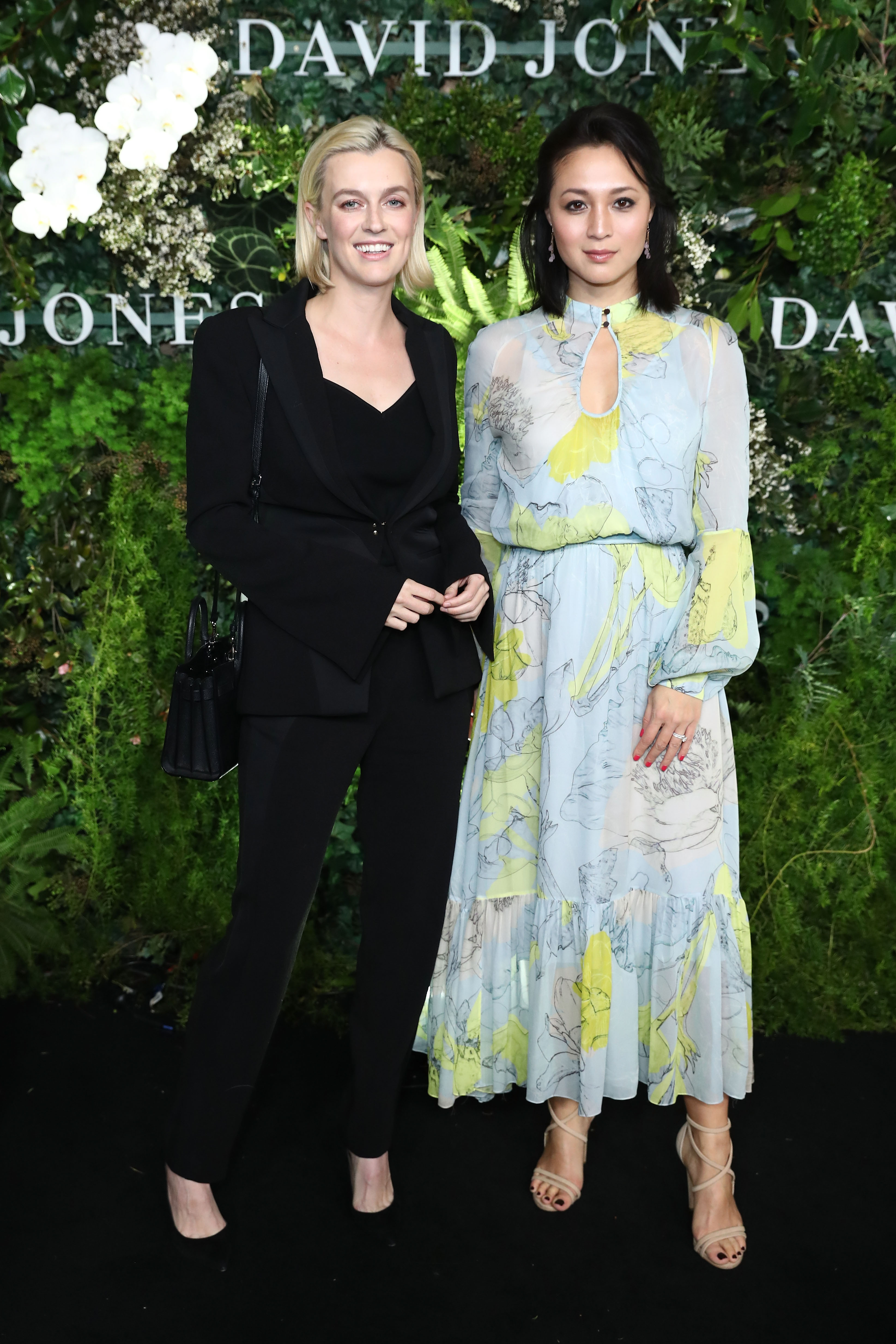 SYDNEY, AUSTRALIA - AUGUST 08: Gracie Otto and Grace Wang attend the David Jones Spring Summer 18 Collections Launch at Fox Studios on August 8, 2018 in Sydney, Australia.  (Photo by Mark Metcalfe/Getty Images for David Jones) *** Local Caption *** Gracie Otto; Grace Wang