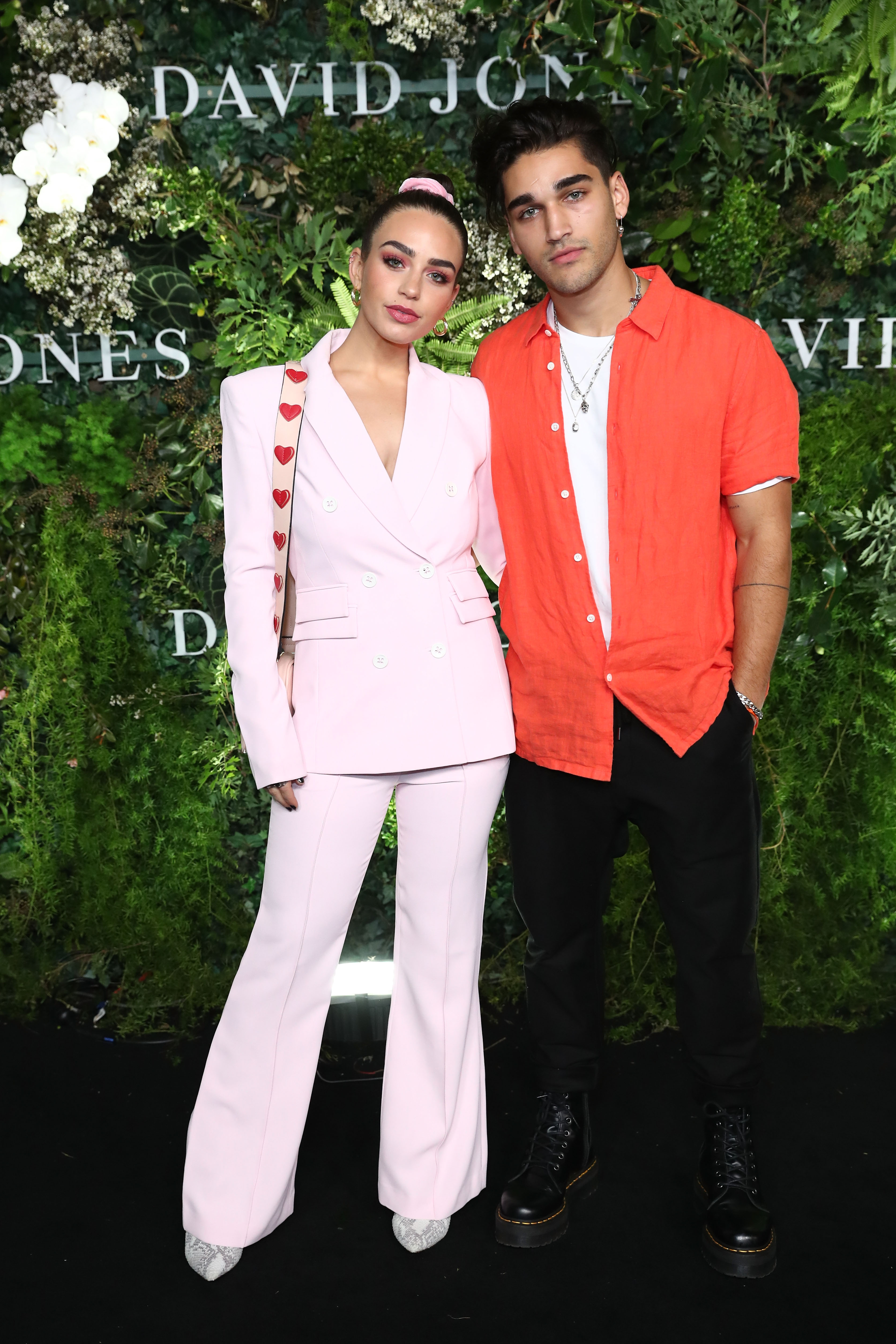 SYDNEY, AUSTRALIA - AUGUST 08: Cartia Mallan and Josh Hughston attend the David Jones Spring Summer 18 Collections Launch at Fox Studios on August 8, 2018 in Sydney, Australia.  (Photo by Mark Metcalfe/Getty Images for David Jones) *** Local Caption *** Cartia Mallan; Josh Hughston