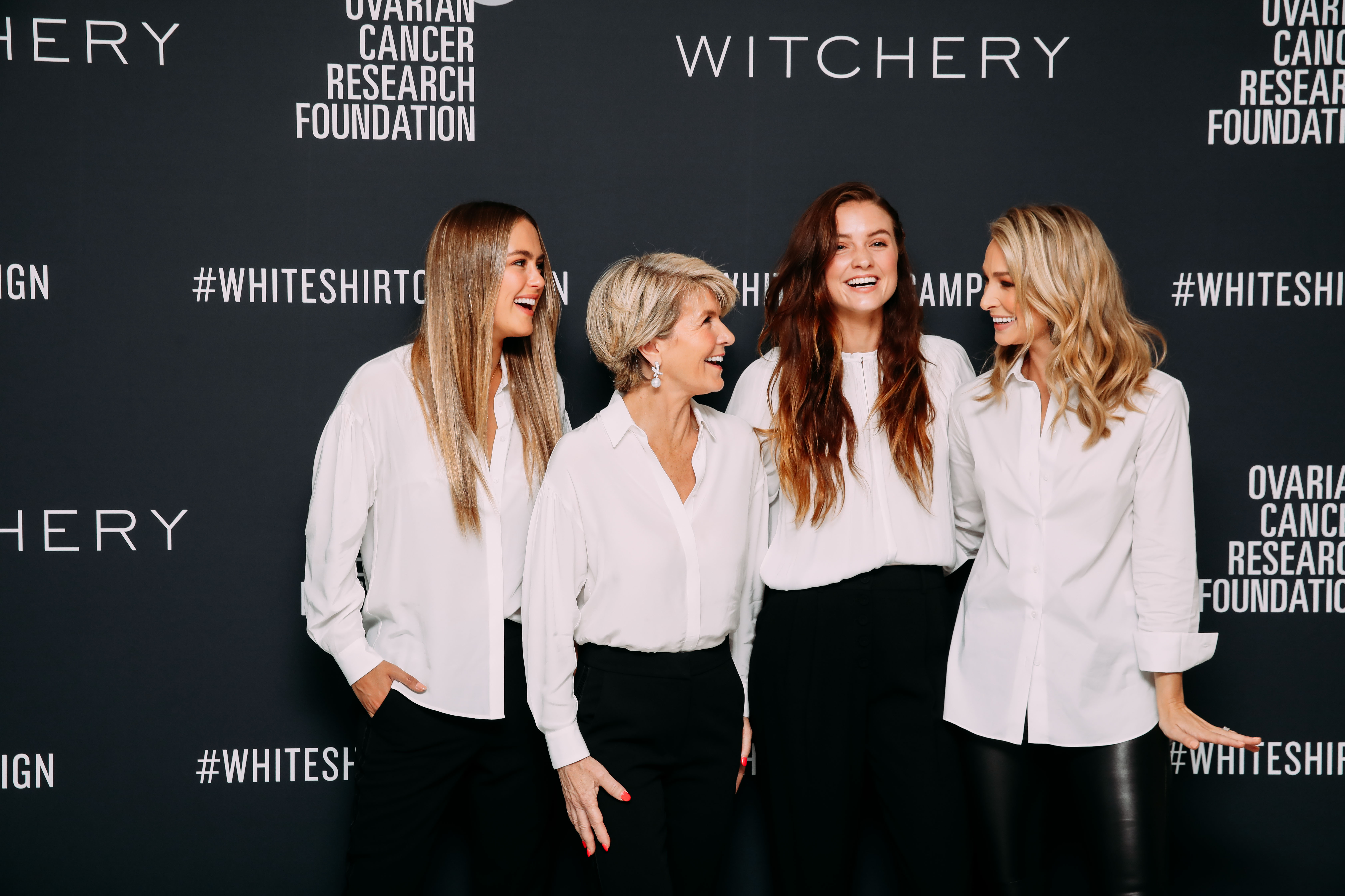 2019 White Shirt Ambassadors Steph Claire Smith, Hon Julie Bishop MP, Laura Henshaw, Anna Heinrich 4