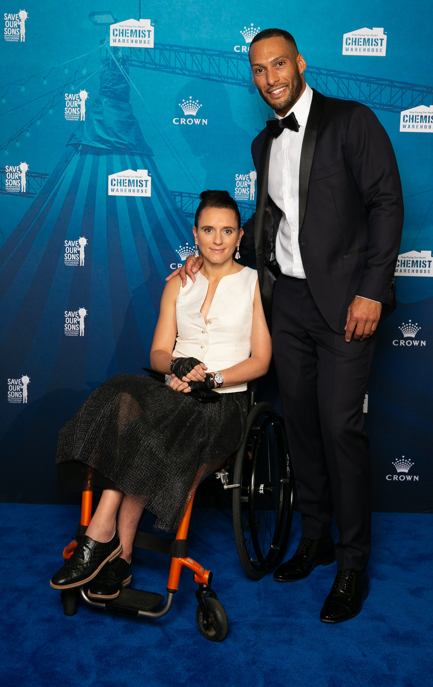 Save Our Sons Gala.  Palladium Crown Resorts.  Josh Gibson and girlfriend Olga Kononchuk