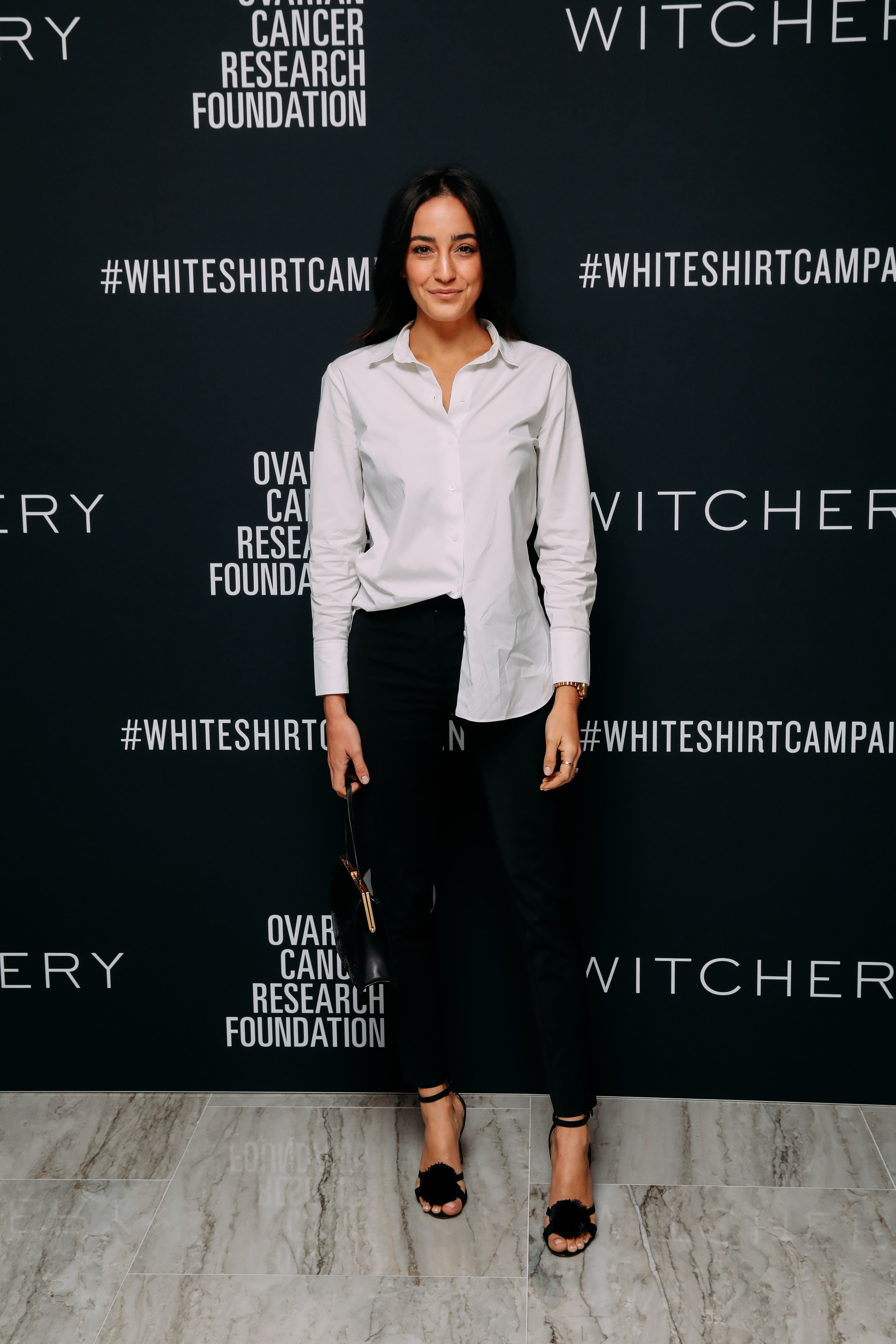 Abbey Gelmi at the 2019 Witchery White Shirt Campaign Launch