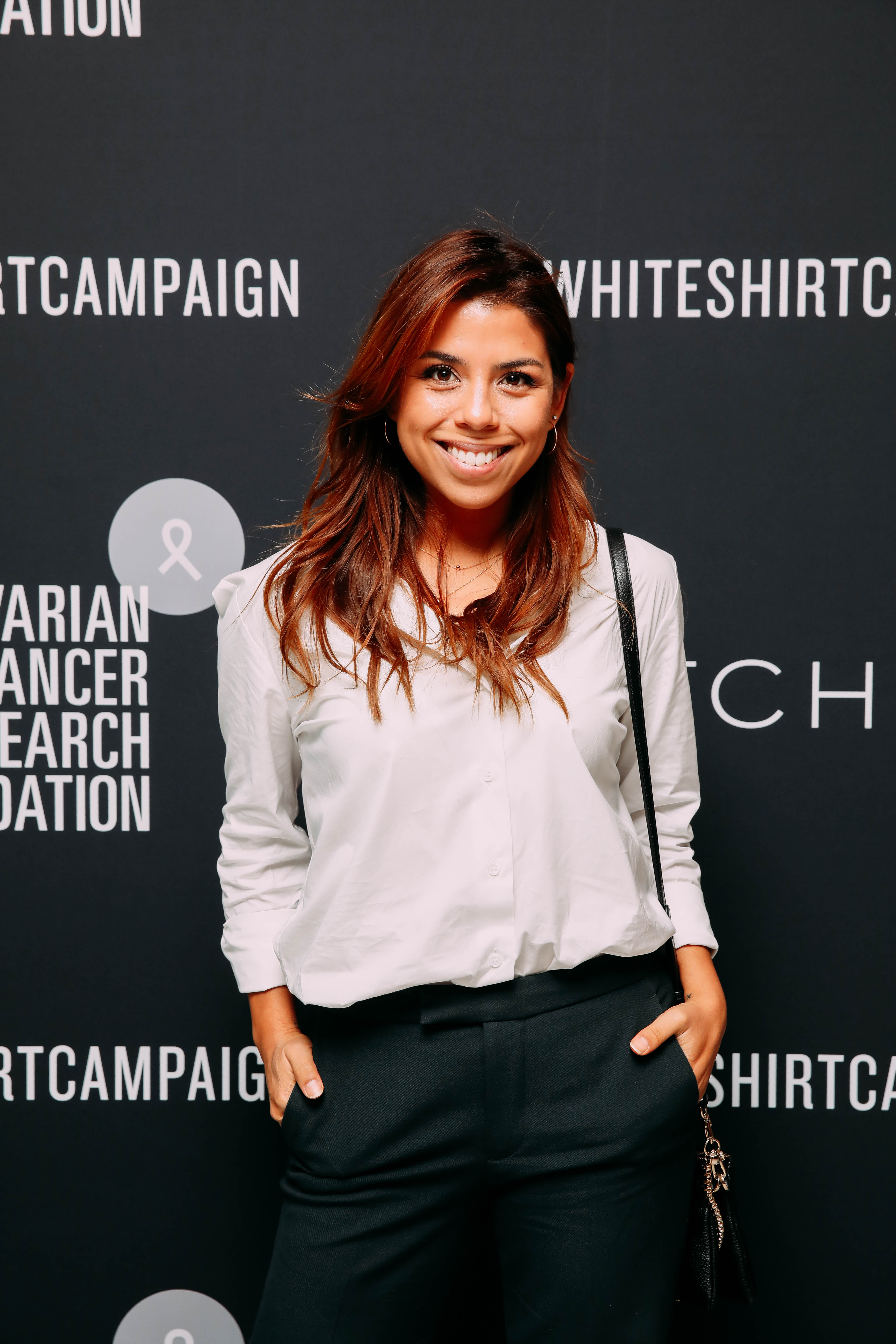 Sally Spratt at the 2019 Witchery White Shirt Campaign Launch